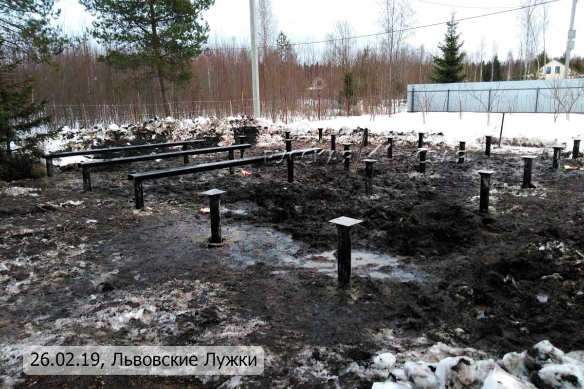 Фундамент на винтовых сваях, Львовские Лужки