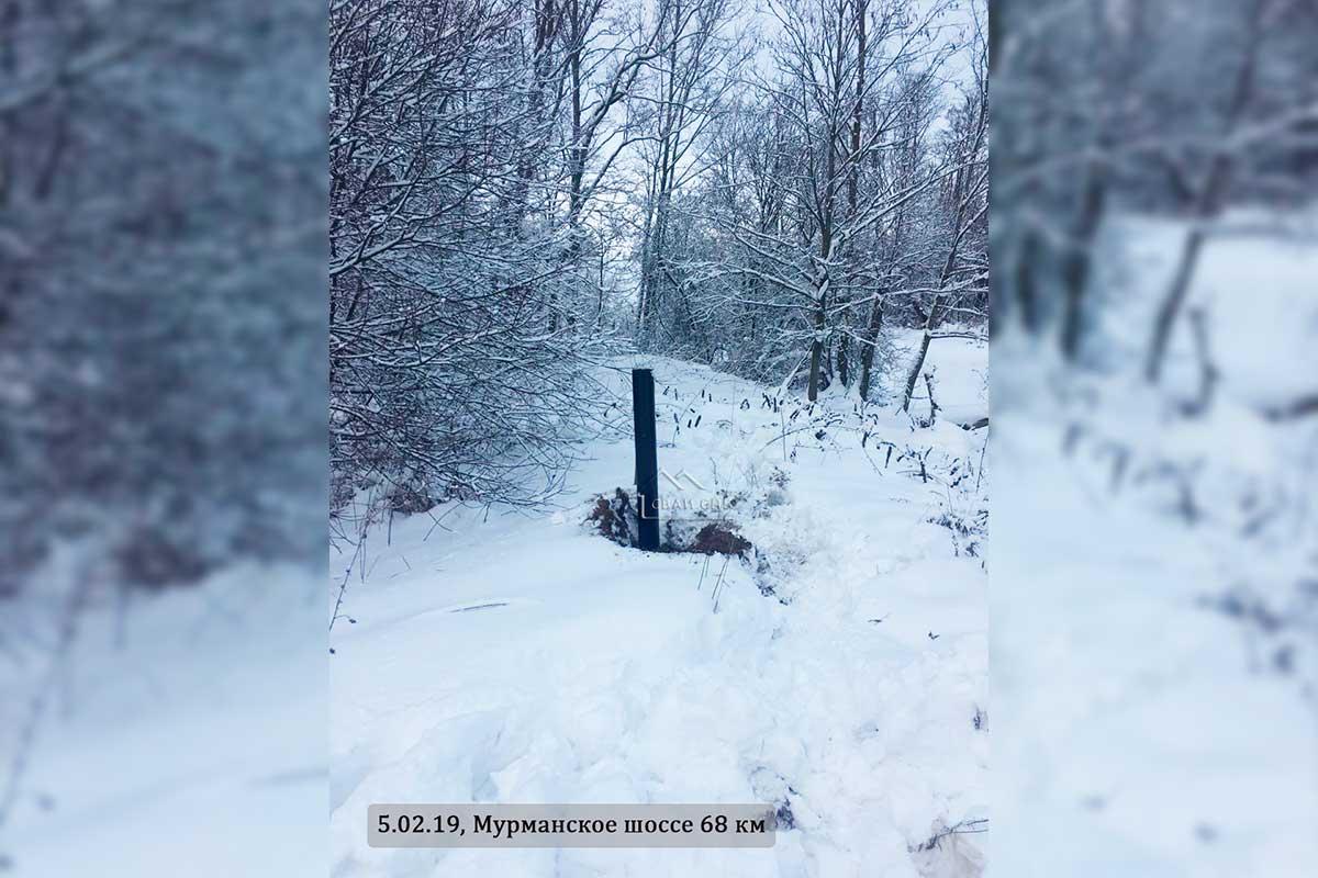 Сваи 133 мм под высотные отметки, Мурманское шоссе 68 км